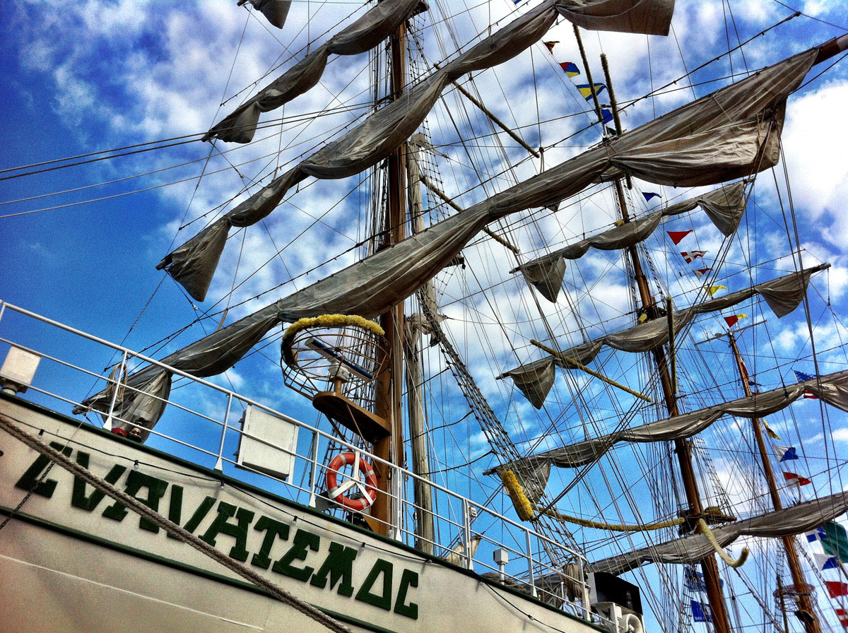 Details from the tall ship ARM Cuauhtemoc docked in the west side of the Inner Harbor. (Nick Tann/Baltimore Sun)