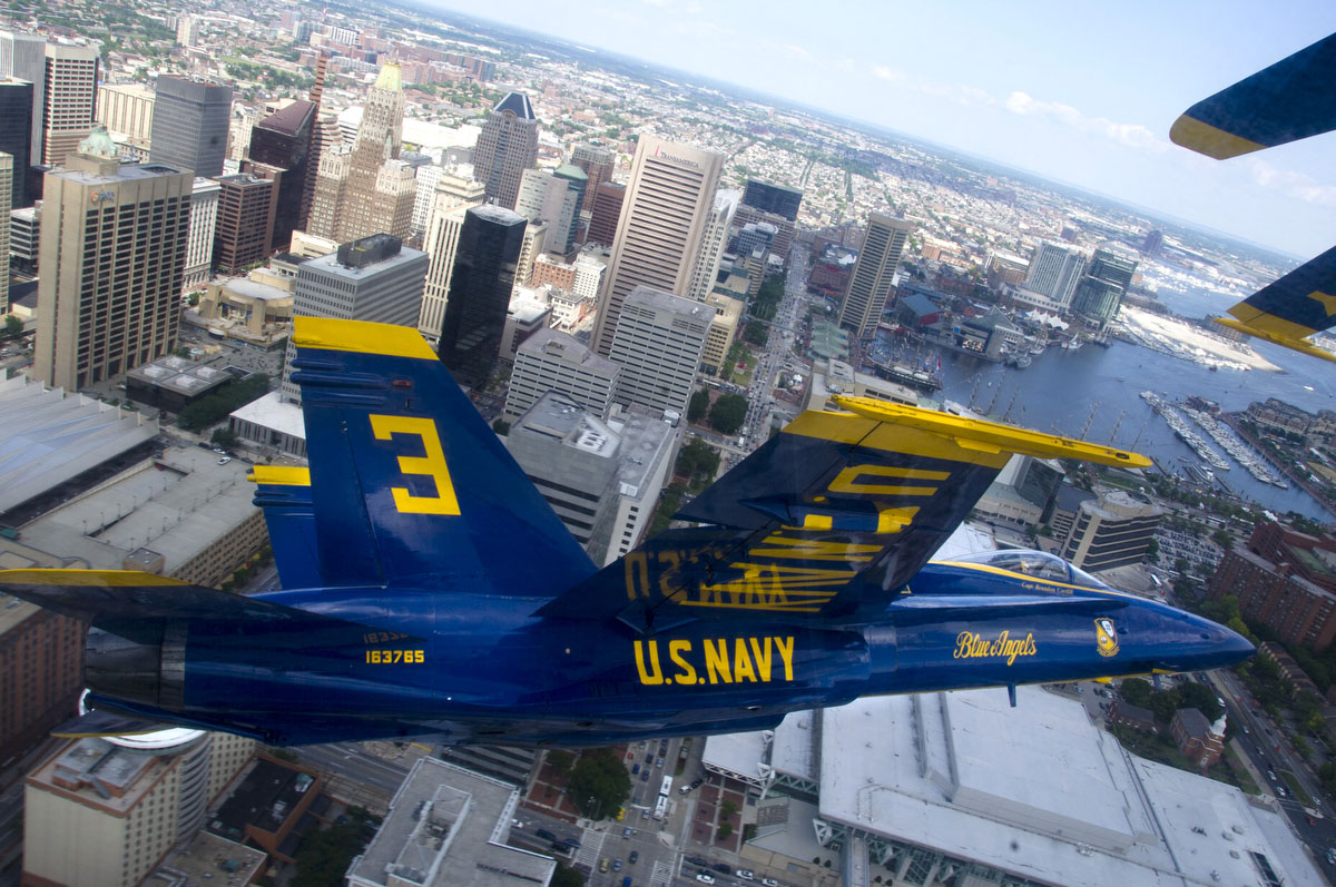 A Blue Angels' view of Baltimore
