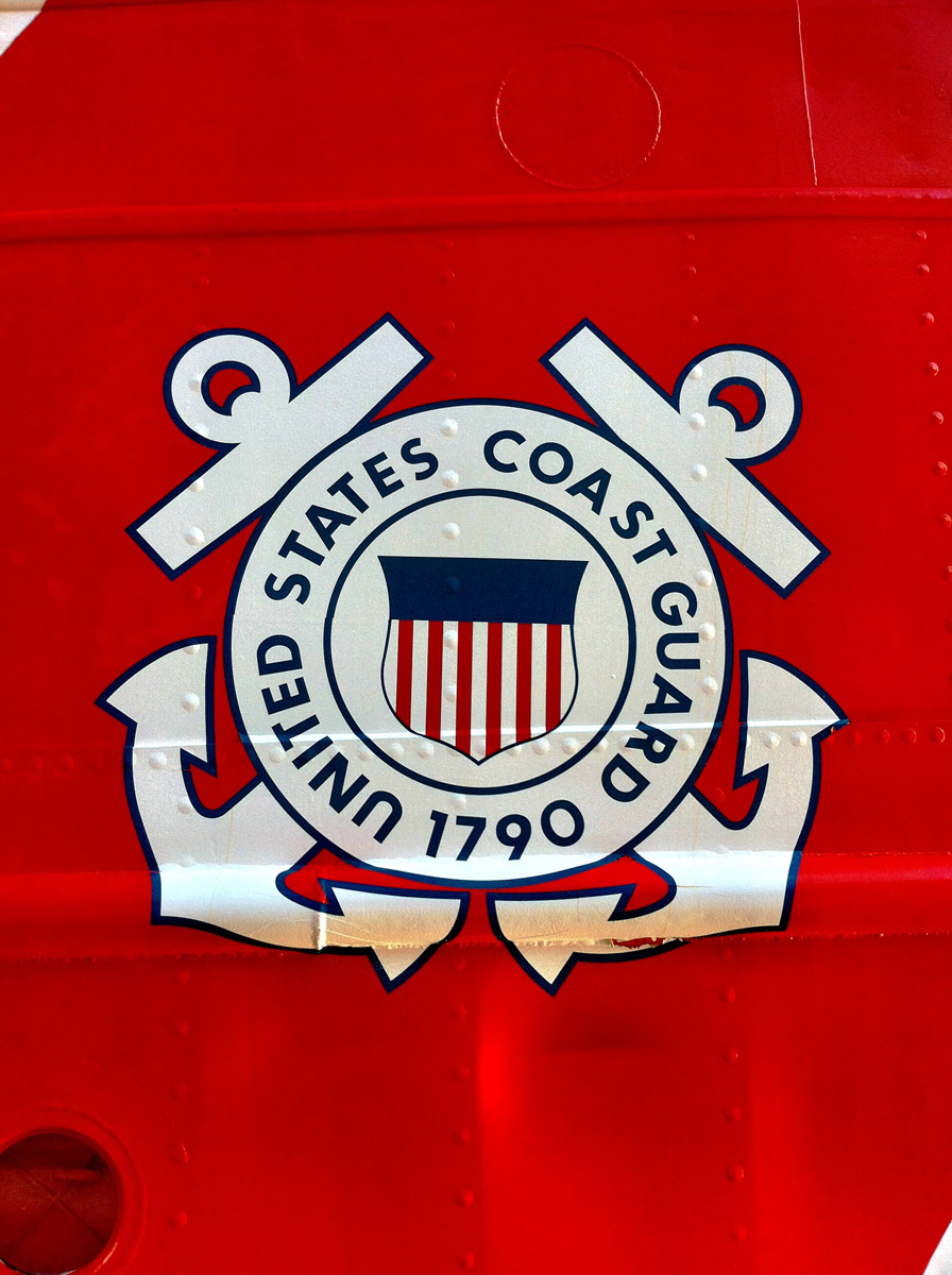 Detail of the US Coast Guard emblem on the side of the USCGC EAGLE near Pier IV in the Inner Harbor. (Nick Tann/Baltimore Sun)