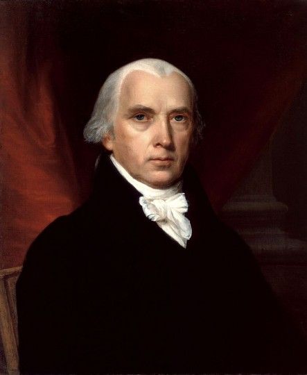 "James Madison, ""Father of the Constitution"" – Madison is often given this title for his role in helping to craft the Constitution and Bill of Rights. (Wikimedia Commons)"