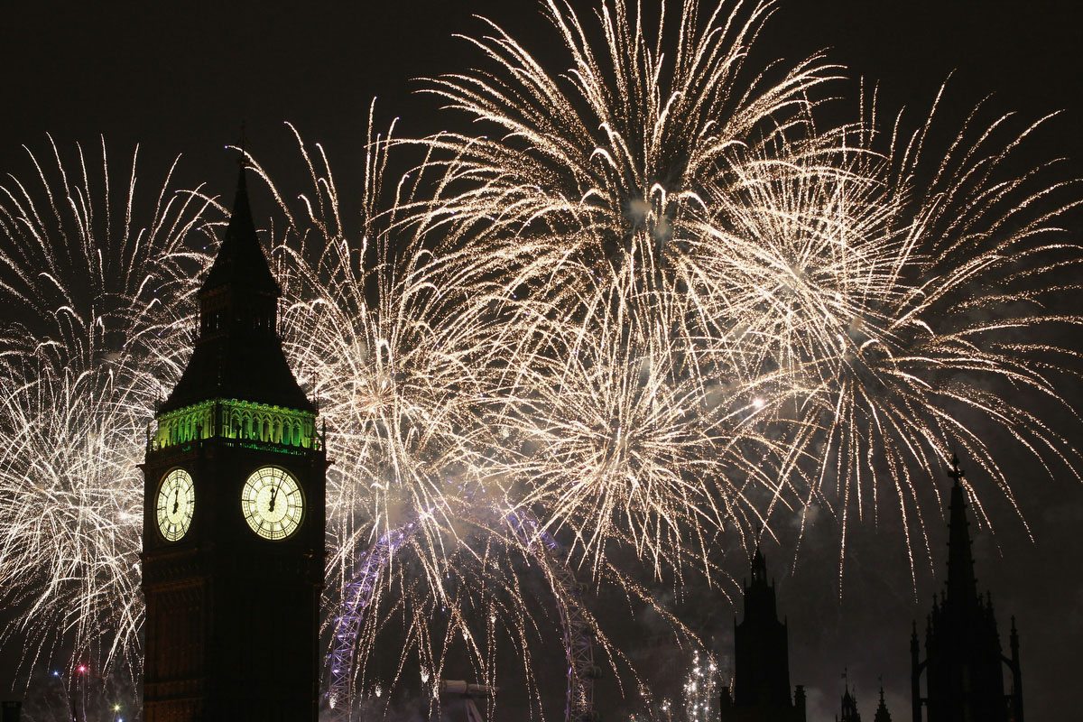 Fireworks light up the London skyline and Big Ben just after midnight on January 1, 2011 in London, England. (Dan Kitwood/Getty Images)
