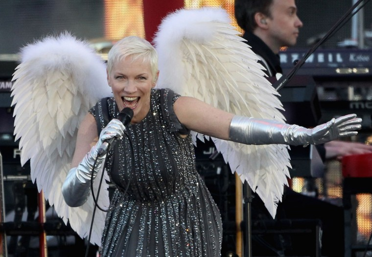 Singer Annie Lennox performs on stage during the Diamond Jubilee concert at Buckingham Palace on June 4, 2012 in London, England. (Dan Kitwood/Getty Images)