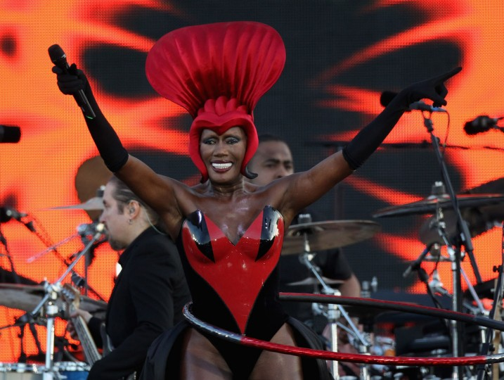 Singer Grace Jones performs on stage during the Diamond Jubilee concert at Buckingham Palace on June 4, 2012 in London, England. (Dan Kitwood/Getty Images)
