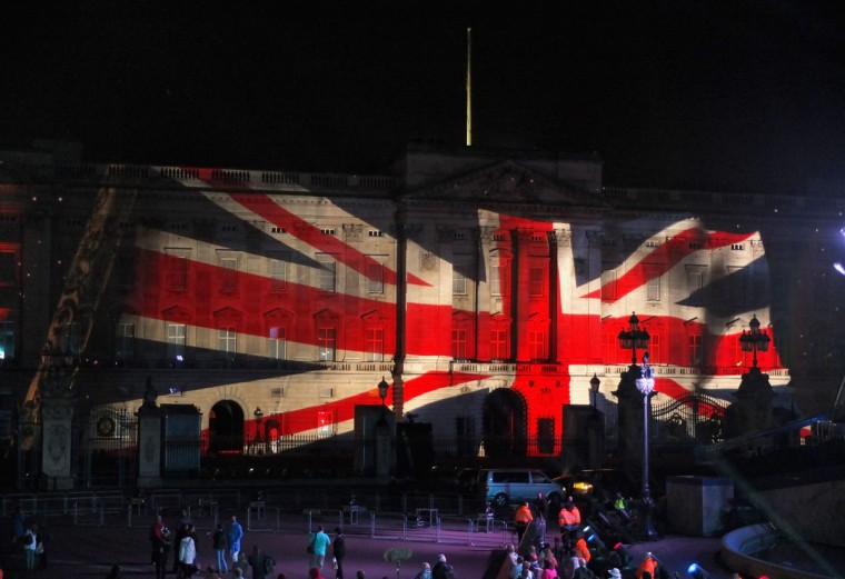 Projections illuminate the Buckingham Palace during the Diamond Jubilee concert at Buckingham Palace on June 4, 2012 in London, England. (Chris Jackson/Getty Images)