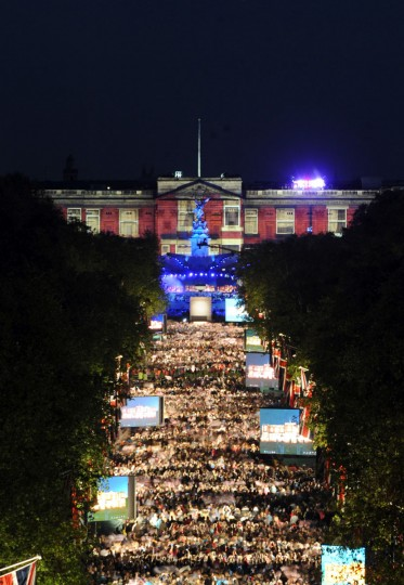 Madness perform on the roof of Buckingham Palace during the Jubilee concert, a part of the Diamond Jubilee celebrations on June 4, 2012 in London, England. (Anthony Devlin - WPA Pool/Getty Images)