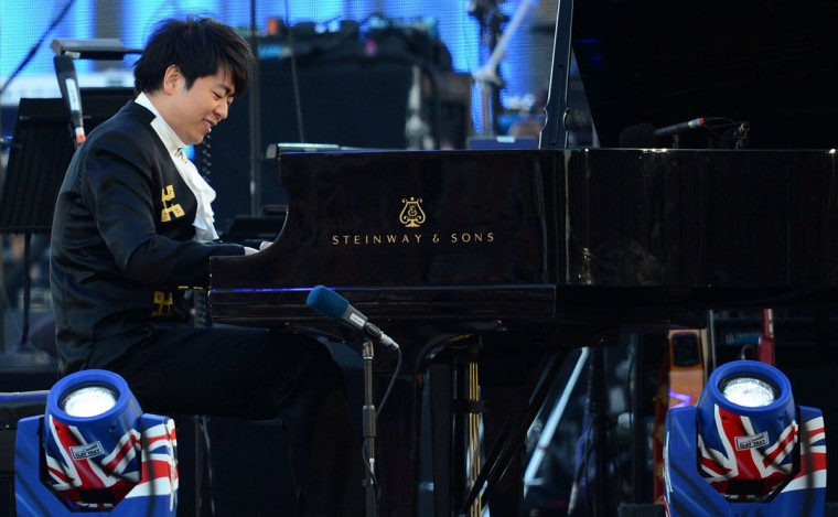 Chinese pianist Lang Lang performs during the Queen's Diamond Jubilee Concert at Buckingham Palace in London, on June 4, 2012. (Leon Neal/AFP/Getty Images)