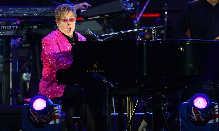 British singer-songwriter Elton John performs during the Queen's Diamond Jubilee Concert at Buckingham Palace in London on June 4, 2012. (Leon Neal/AFP/Getty Images)
