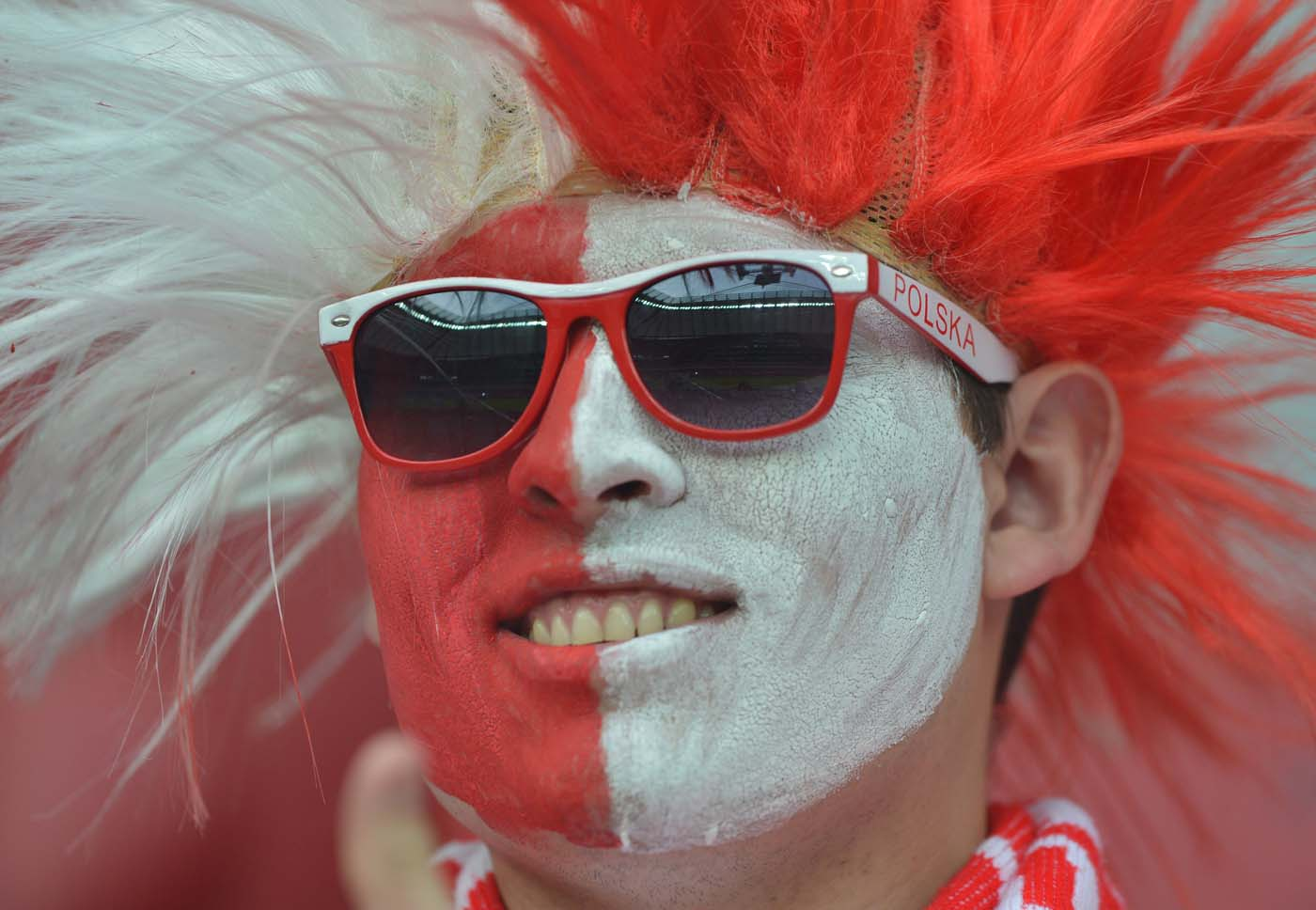 A Polish supporter is pictured prior to the Euro 2012 championships football match Poland vs Russia on June 12, 2012 at the National Stadium in Warsaw. (Gabriel Bouys/AFP/Getty Images)