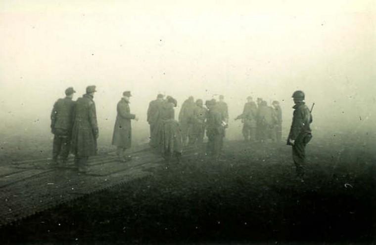 Prisoners in Germany, 1945. (Holbrook Bradley/Baltimore Sun)