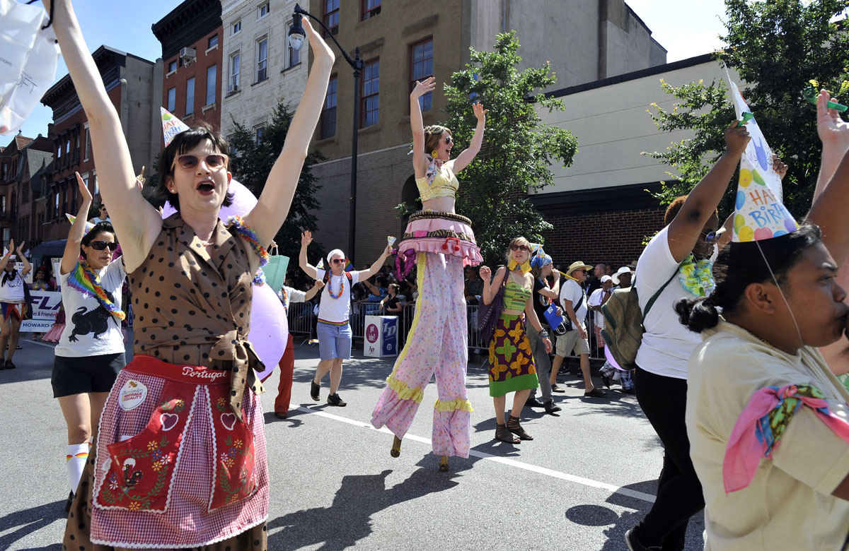 Baltimore: The annual Gay Pride parade along Charles Street June 16, 2012. (Lloyd Fox/Baltimore Sun)