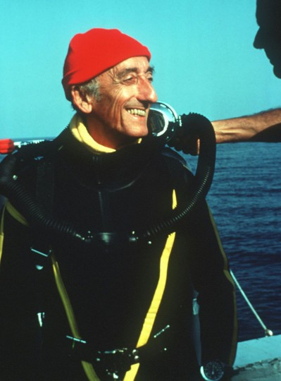 "Jacques Cousteau, ""Father of scuba diving"" – The underwater adventurer, filmmaker, author, environmentalist and aqualung co-inventor Jacques Cousteau opened the mysterious world beneath the seas to millions of landlocked readers and viewers until his death in 1997. (The Cousteau Society/AP Photo)"