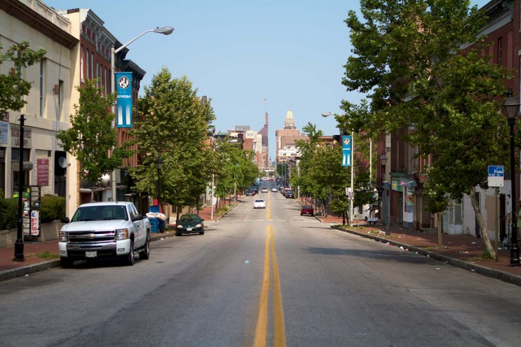 Street view in West Baltimore. (Will Cocks/Will Cocks Photography)