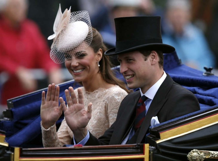 Prince William and Catherine, Duchess of Cambridge leave Westminster Hall in London June 5, 2012. (Kevin Coombs/Reuters)