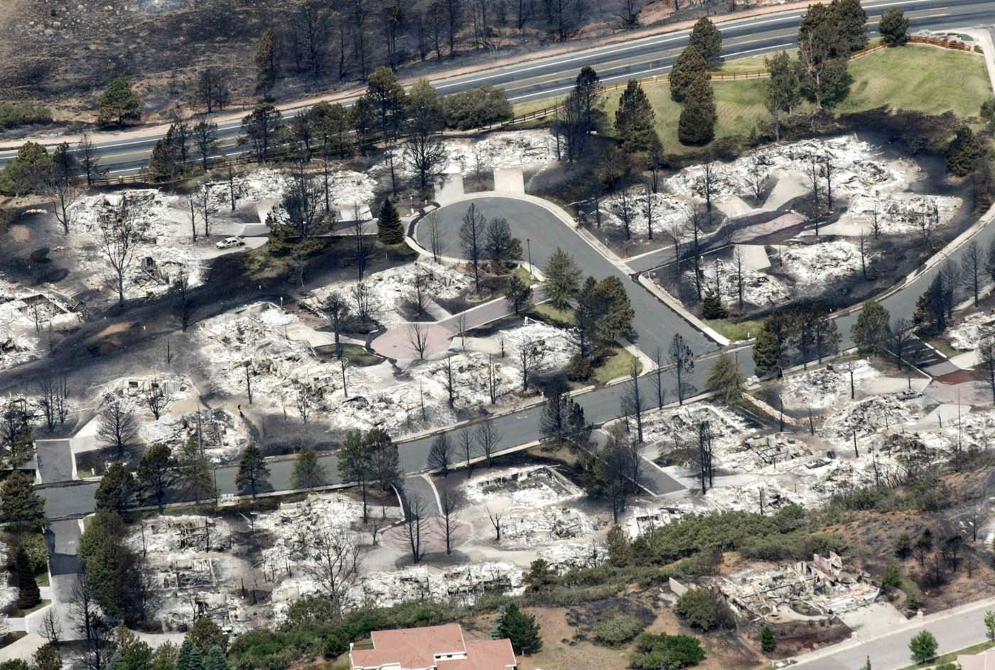 JUNE 28: Some of the hundreds of totally destroyed homes are seen in the aftermath of the Waldo Canyon fire in Colorado Springs, Colorado June 28, 2012. (Rick Wilking/Reuters)