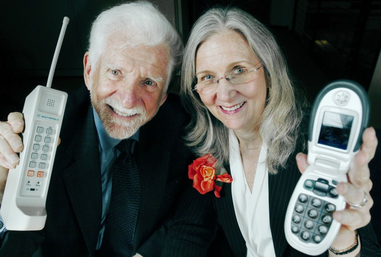 "Martin Cooper, ""Father of the mobile phone:"" Martin Cooper is credited to developing the cellular phone. Meanwhile, his wife and business partner Arlene Harris has been called the ""first lady of wireless."" ""People want to talk to other people - not a house, or an office, or a car. Given a choice, people will demand the freedom to communicate wherever they are, unfettered by the infamous copper wire. It is that freedom we sought to vividly demonstrate in 1973,"" Cooper has said. (Erin Lubin/Great Call/AP Photo/HO)"