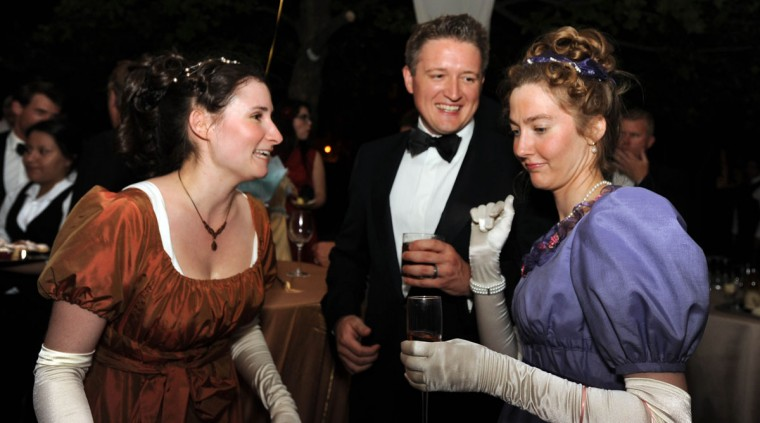 June 9, 2012: Alex Beiter, Chandler Denison and Kellie Saunders attend the Maryland Historical Society's War of 1812 Bicentennial Gala. (Karen Jackson/Baltimore Sun)