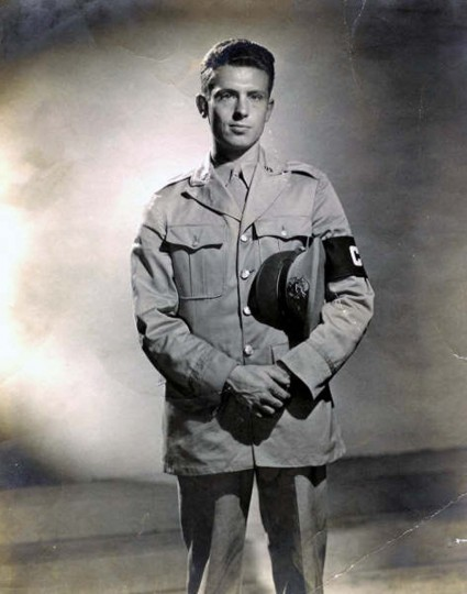 Holbrook Bradley during his stint as a war correspondent during WWII. (Holbrook Bradley)