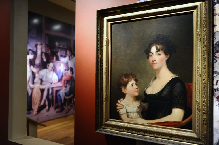 "June 1, 2012: Pictured is a painting of Rosalie Stier Calvert with Child, ca. 1812, who witnessed the Battle of Bladensburg from Plantation ""Riversdale"" near Washington D.C. The Maryland Historical Society mounts the largest display of War of 1812 related artifacts, including the Francis Scott Key's anthem manuscript, to coincide with the launch of the city's War of 1812 bicentennial celebration. (Kenneth K. Lam/Baltimore Sun)"