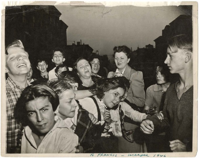Their first murder, ca. October 8, 1941. Taken by Weegee. (Courtesy: International Center of Photography)