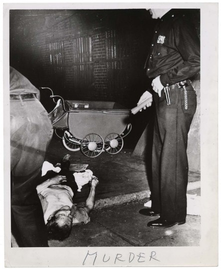 Murder, ca. 1940. Taken by Weegee. (Courtesy: International Center of Photography)