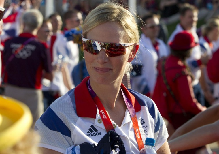 Zara Phillips attends a Welcoming Ceremony for Team GB in the Olympic Village in London July 24, 2012. (Neil Hall/Reuters)