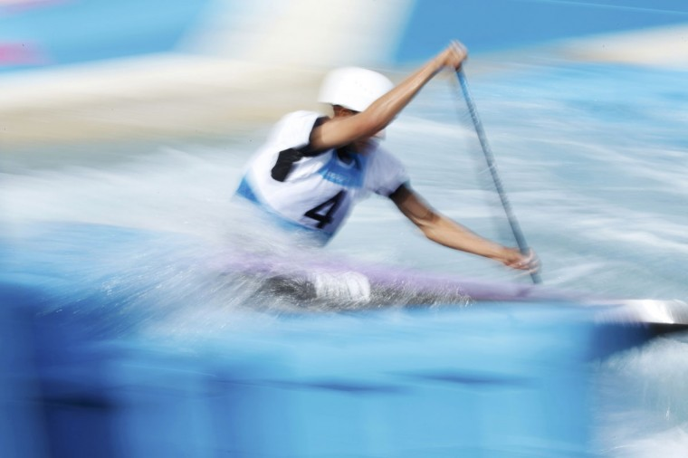Czech Republic's Stanislav Jezek competes in the men's canoe single (C1) heat at Lee Valley White Water Centre at the London 2012 Olympic Games July 29, 2012. (Lucy Nicholson/Reuters)