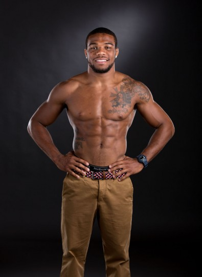 Team USA wrestler Joran Burroughs during a portrait session at the 2012 Team USA Media Summit at the Hilton Anatole. (Kevin Jairaj/US Presswire)