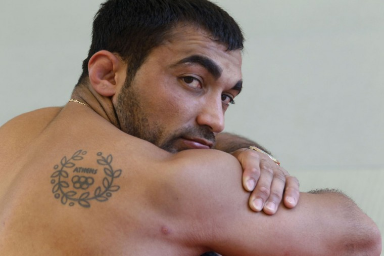 Greece's Olympic gold medallist in judo Ilias Iliadis poses at the Agios Kosmas training centre in Athens July 25, 2012. (John Kolesidis/Reuters)
