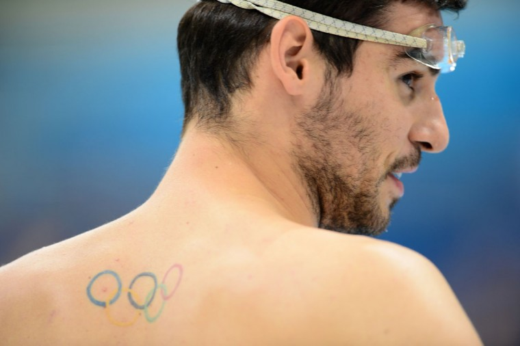 Australian James Magnussen attends a swimming training session at the Aquatics Centre on July 25, 2012 ahead of the London 2012 Olympic Games in London. (Christophe Simon/AFP/Getty Images)