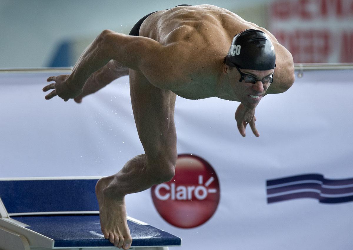 Cesar Cielo Training Brazil's Cesar Cielo Dives