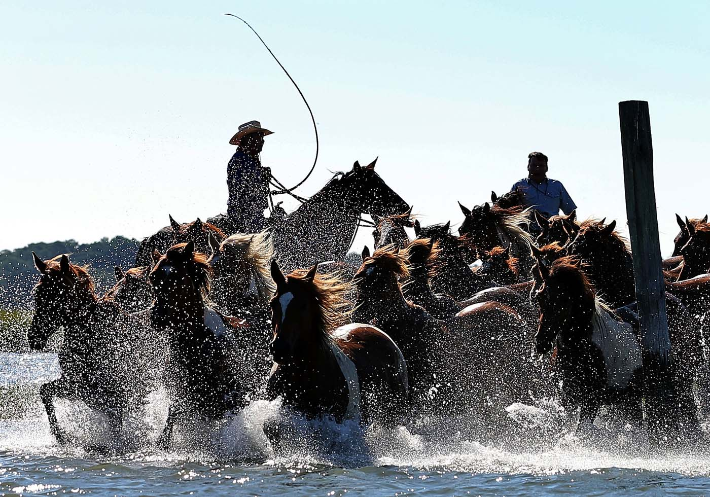 July 26 Photo Brief: Chincoteague pony swim, Bhopal victims stage own Olympics, deadly rains in Beijing