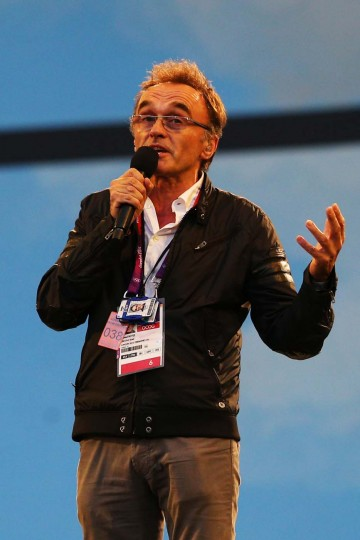 Artistic Director of the Opening Ceremony Danny Boyle speaks during the Opening Ceremony of the London 2012 Olympic Games at the Olympic Stadium on July 27, 2012 in London, England. (Cameron Spencer/Getty Images)