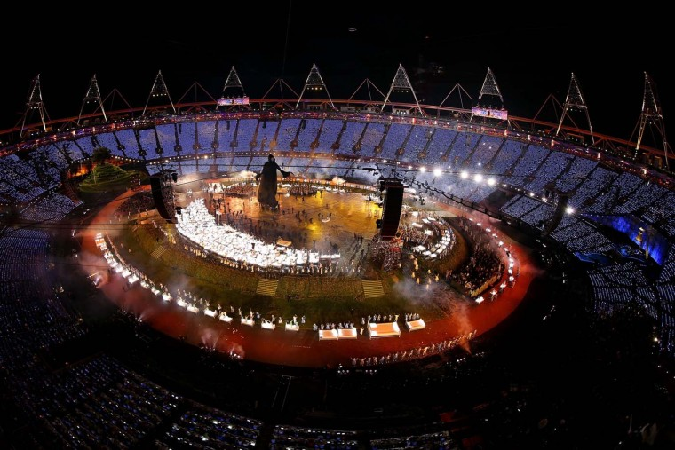 A general view of the Opening Ceremony of the London 2012 Olympic Games at the Olympic Stadium on July 27, 2012 in London, England. (Chris McGrath/Getty Images)