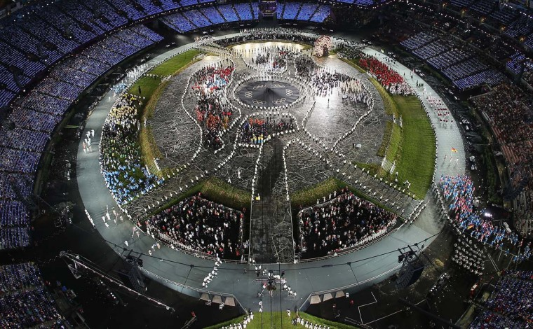 The Olympic Stadium is seen during the Opening Ceremony of the London 2012 Olympic Games at the Olympic Stadium on July 27, 2012 in London, England. (Chris McGrath/Getty Images)