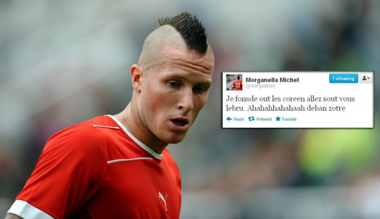 "Michel Morganella: The Swiss soccer player was sent home on Monday after his Twitter trash talking crossed the line. Morganella posted a message aimed toward South Koreans after his Swiss team lost 2-1 to their team on Sunday. Morganella wrote on Twitter ""Je les tous Defonce Coréens, allez vous tous Bruler, bande de trisos,"" which translates to ""I want to beat up all South Koreans! Bunch of mentally handicapped retards!"" After the Swiss newspaper Le Matin published images of the offending tweet, the account was deleted. (Paul Ellis/Getty Images)"