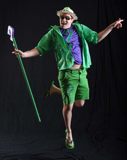 "Nathan Edwards of Winchester, Va. dressed as the Riddler in ""Batman."" (Kenneth K. Lam/Baltimore Sun)"