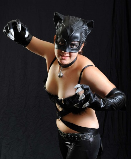 "Ashley Turner of Slancsville, WV. dressed as the Catwoman from the ""Batman"" series. (Kenneth K. Lam/Baltimore Sun)"