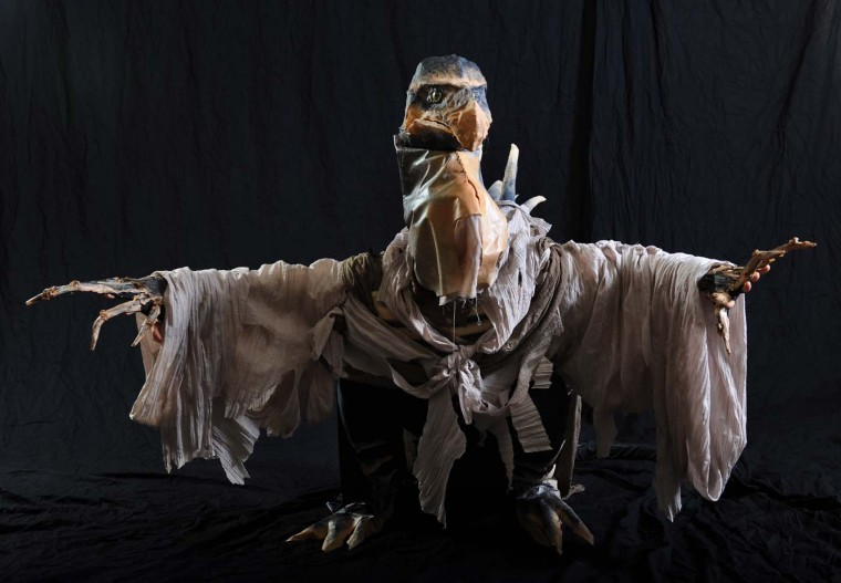 "Jennifer Whip, of Islip, NY., dressed as Skeksis from ""The Dark Crystal."""