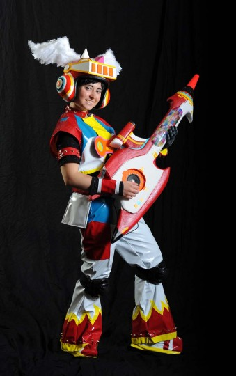 "Abby Bosley, of Abington, Pa., dressed as U-1 from ""Gitaroo Man."" (Kenneth K. Lam/Baltimore Sun)"