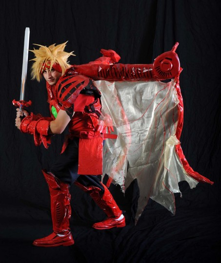 "Matthew Luisi, of Hyde Park, Ma., dressed as Dart from ""Legend of Dragoon."" (Kenneth K. Lam/Baltimore Sun)"