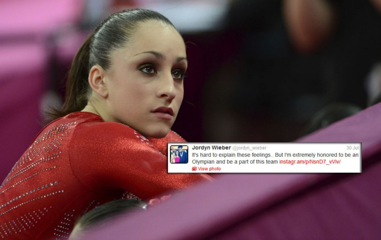 Jordyn Wieber: While other more seasoned Olympians are running afoul with their tweets, the 17-year-old gymnast is used her account to show poise and grace after her disappointing finish in the individual competition. (Vernon Bryant/Dallas Morning News)