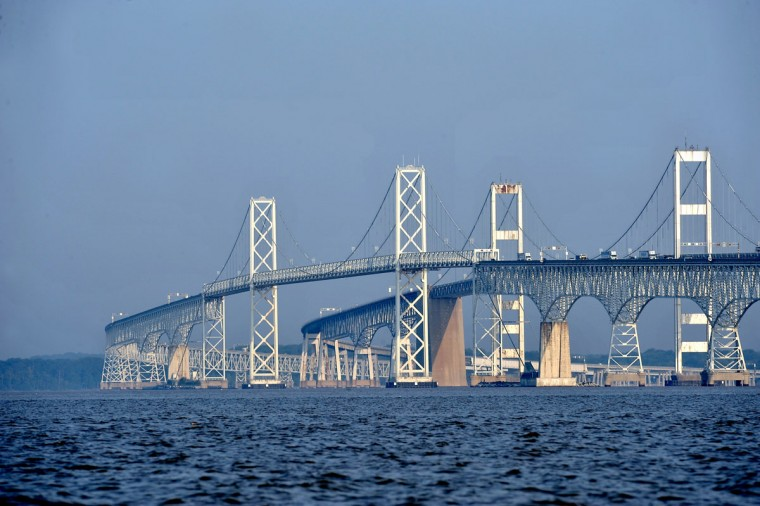 MAY 22: Thousands of Marylanders will cross the Bay Bridge this weekend as vacationers head to the beach for the Memorial Day holiday. (Kim Hairston/Baltimore Sun)