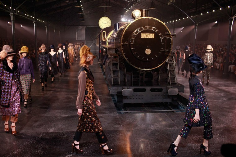 Models present creations by U.S. designer Marc Jacobs as part of his Fall/Winter 2012-2013 women's Louis Vuitton fashion show in Shanghai, China. (Aly Song/Reuters)