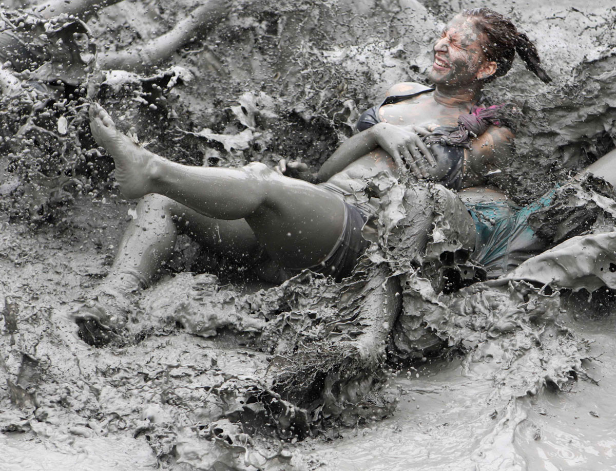 Boryeong Mud Festival at Daecheon beach, South Korea