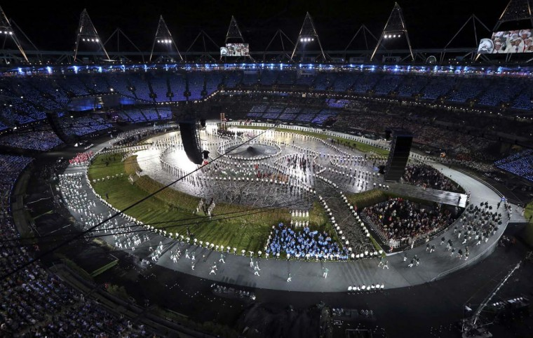 Picture shows a general view of the opening ceremony of the London 2012 Olympic Games at the Olympic Stadium, July 27, 2012. (Pawel Kopczynski/Reuters)