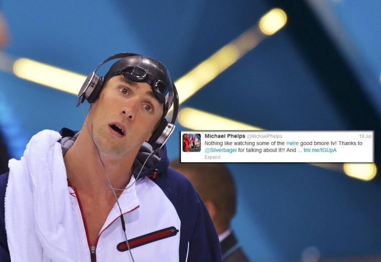 "Michael Phelps: Like many Olympians, the Baltimore native uses his twitter account to connect to his fans, giving them a window into what it's like behind the scenes of the Olympics including the downtime. Although he's across the pond, Phelps may be seeing more of Baltimore than London outside of the pool -- he's currently catching up on ""The Wire."" (Toby Melville/Reuters)"