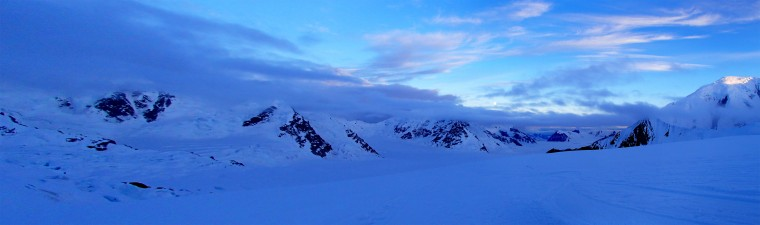 A panorama photo stitch of two images taken on Mt. McKinley. (Disabled Sports USA - Warfighter Sports)