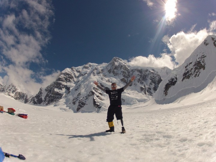 Kirk Bauer, the executive director of Disabled Sports USA, poses for a photo on Mt. McKinley. Bauer lost his left leg in 1969 during the Vietnam War. (Disabled Sports USA - Warfighter Sports)