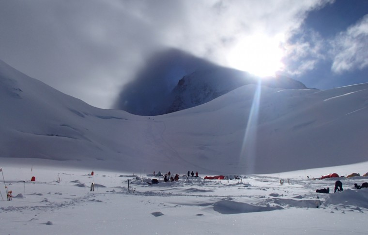 The group sets up camp at 11,000 feet on Mt. McKinley. (Disabled Sports USA - Warfighter Sports)