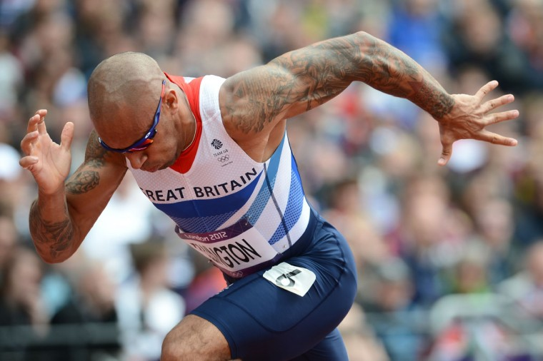 Britain's James Ellington competes in the men's 200m heats at the athletics event during the London 2012 Olympic Games on August 7, 2012 in London. (Franck Fife/AFP/Getty Images)
